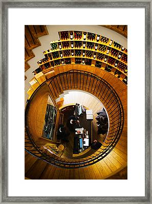 Overview Of The Lintendant Wine Shop Framed Print by Panoramic Images