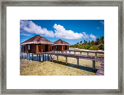 Overwater Spa Villas. Maldives Framed Print by Jenny Rainbow