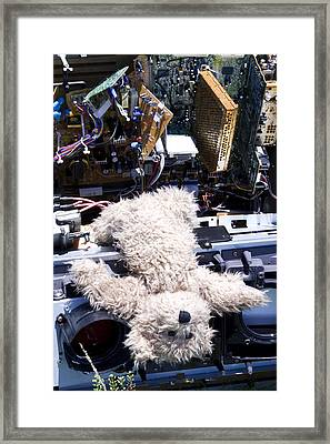 Overwhelmed By Technology Framed Print by William Patrick
