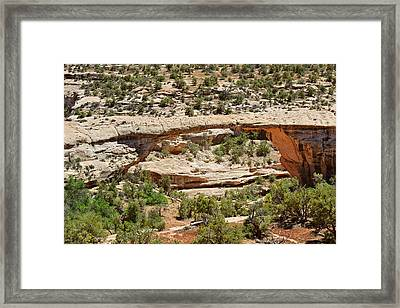 Owachomo Bridge - Natural Bridges Utah Framed Print by Christine Till