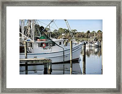 Owen And Devin Framed Print by Lynn Jordan