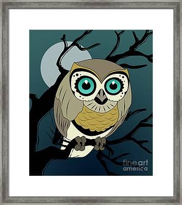 Owl 3 Framed Print by Mark Ashkenazi