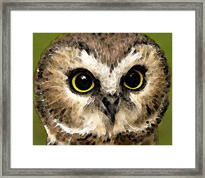 Owl Art - Night Vision Framed Print by Sharon Cummings
