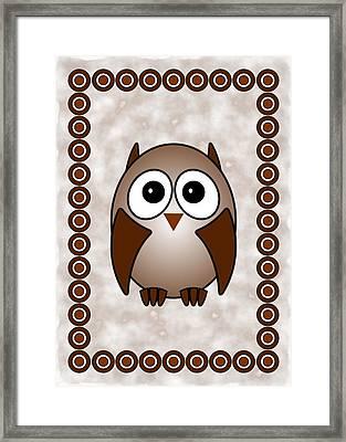 Owl - Birds - Art For Kids Framed Print by Anastasiya Malakhova
