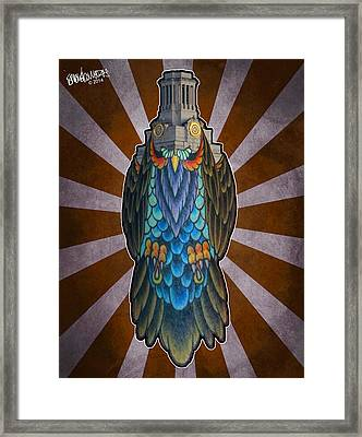Owl Of The Tower Framed Print by Ismael Cavazos