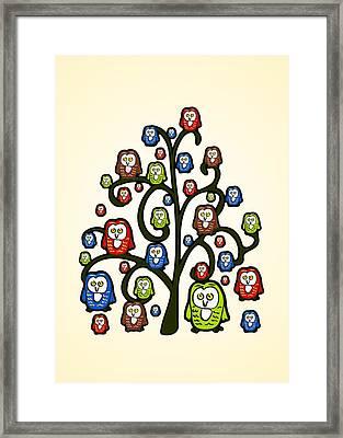 Owl Tree Framed Print by Anastasiya Malakhova