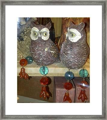 Owls Framed Print by Barbara Yodice