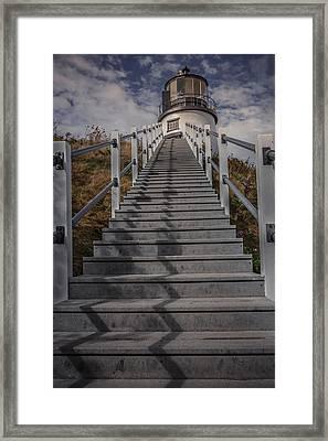 Owl's Head Lighthouse Framed Print by Chris Fletcher