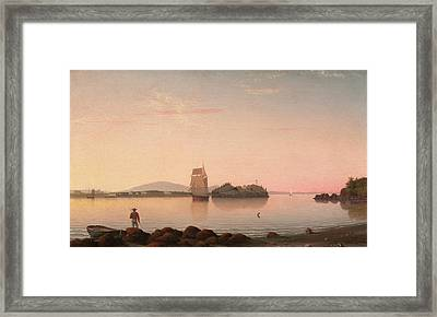 Owls Head Penobscot Bay Maine Framed Print by Fitz Henry Lane