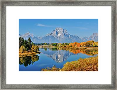 Oxbow Autumn Framed Print by Greg Norrell