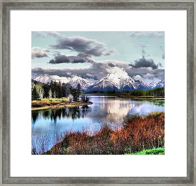 Oxbow Bend Framed Print by Dan Sproul