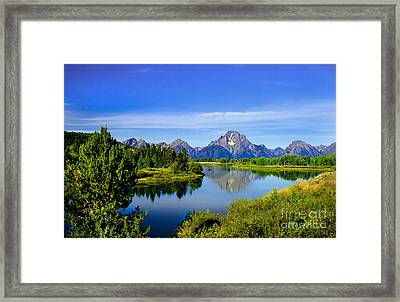Oxbow Bend Framed Print by Robert Bales