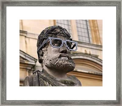 Oxford Geek Framed Print by Rona Black