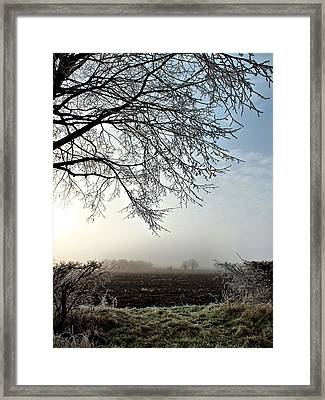 Oxfordshire Frost Framed Print by Lucy Antony
