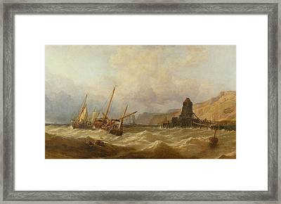 Oxwich Bay, South Wales, 1851 Framed Print by George Clarkson Stanfield