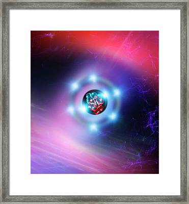 Oxygen Atom Framed Print by Richard Kail