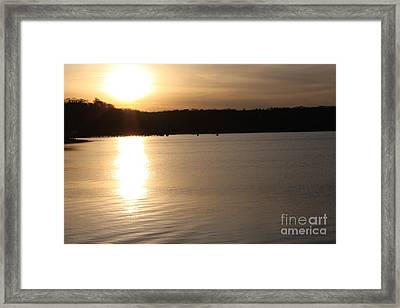 Oyster Bay Sunset Framed Print by John Telfer