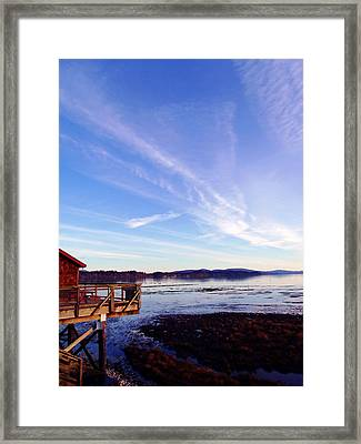 Oyster Flats Framed Print by Pamela Patch