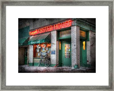 Oyster House Framed Print by Lori Deiter
