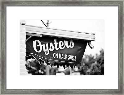 Oysters On Half Shell Framed Print by Scott Pellegrin