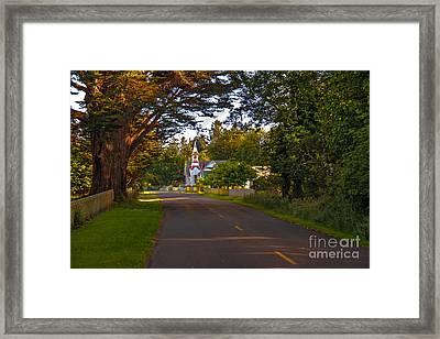 Oysterville Church Framed Framed Print by Robert Bales