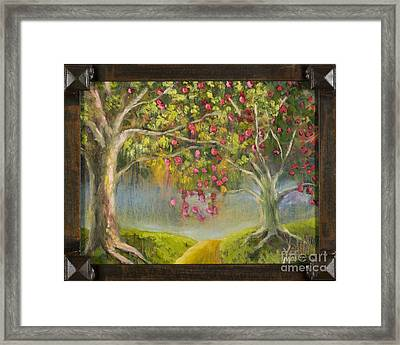 Oz Apple Orchard With Gold Leaf By Vic Mastis Framed Print by Vic  Mastis
