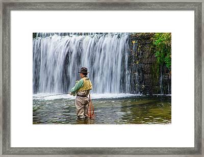 Ozark Trout Fishing Of Missouri Framed Print by Steven Bateson