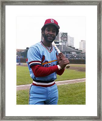 Ozzie Smith By George Brace Framed Print by Retro Images Archive