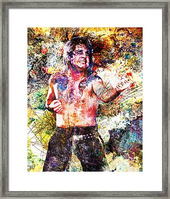 Ozzy Osbourne Original  Framed Print by Ryan Rock Artist