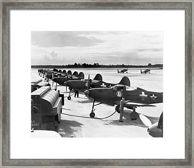 P-39 Airacobra Fighter Planes Framed Print by Underwood Archives