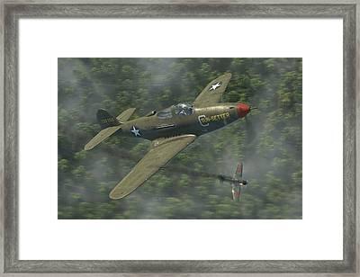 P-39 Airacobra Vs. Zero Framed Print by Robert Perry