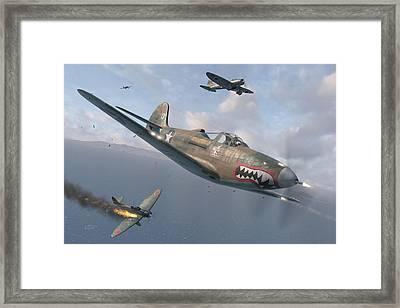 P-400 Hells Bells Framed Print by Robert Perry