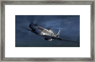 P-51 Ace George Preddy Framed Print by Robert Perry