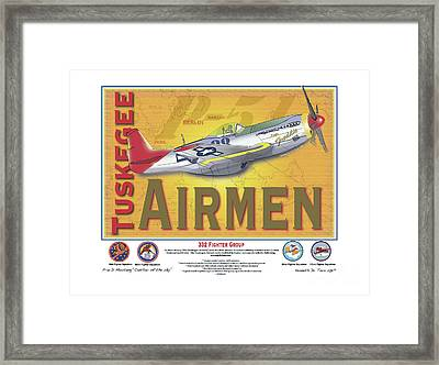P-51 D Tuskegee Airmen Framed Print by Kenneth De Tore