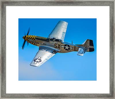 P-51 Mustang Break Out Roll Framed Print by Puget  Exposure