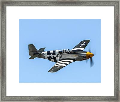 P-51 Mustang Fighter Framed Print by Puget  Exposure