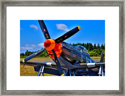 P-51 Mustang - Speedball Alice Framed Print by David Patterson