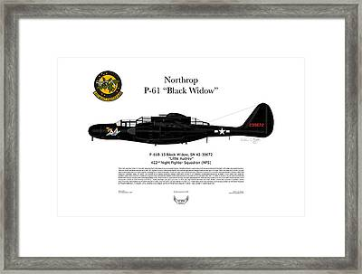 P-61b Black Widow Framed Print by Arthur Eggers