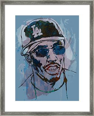 P Diddy - Stylised Etching Pop Art Poster Framed Print by Kim Wang