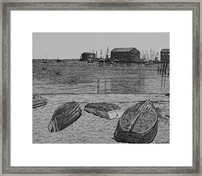 P-town Boats Framed Print by Christine Brunette