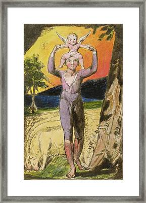 P.124-1950.pt29 Frontispiece To Songs Framed Print by William Blake