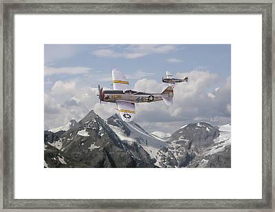 P47 Thunderbolt - 57th Fg Framed Print by Pat Speirs