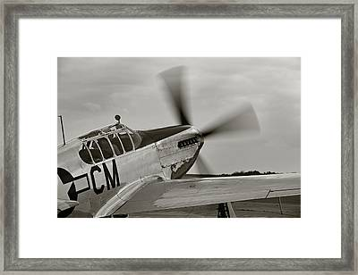 P51 Mustang Takeoff Ready Framed Print by M K  Miller