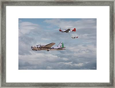 P51 Red Tails - Bringing Them Home Framed Print by Pat Speirs