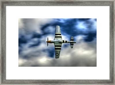 P51d Mustang Ferocious Frankie Framed Print by Phil 'motography' Clark