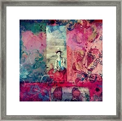 Pablo And Frida's Day Dream Framed Print by Melinda Jones