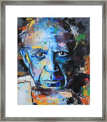Pablo Picasso Framed Print by Richard Day