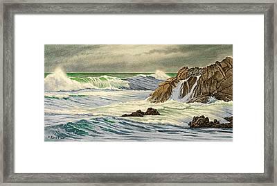 Pacific Grove Seascape Framed Print by Paul Krapf
