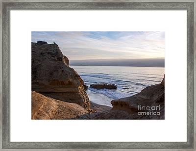 Pacific Ocean View From Above Cliffs Framed Print by Darleen Stry