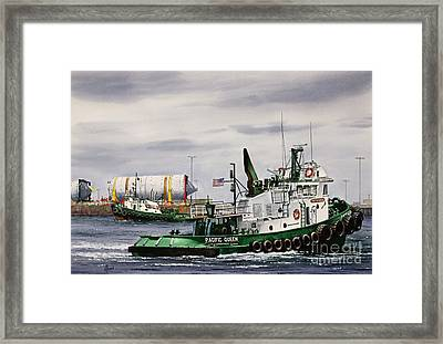 Pacific Queen And Edith Foss Framed Print by James Williamson